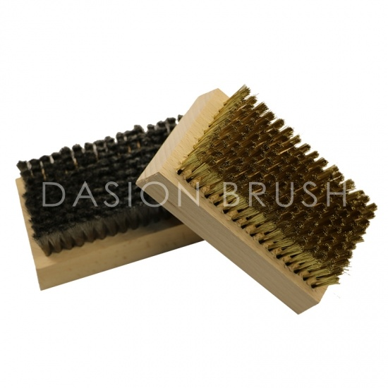 Stainless Steel Wooden Ski Waxing Brush